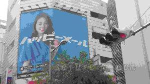 ハッピーメール街頭広告