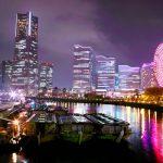 横浜のきれいな夜景をみて本番へのテンションを上げる